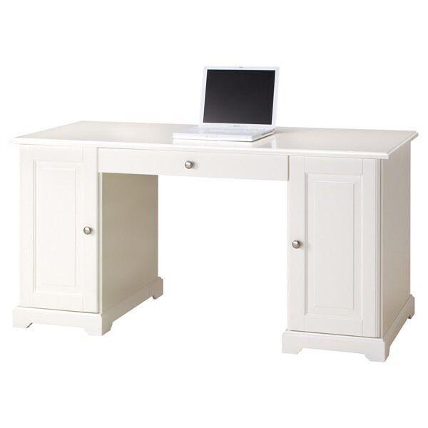 White ikea study table