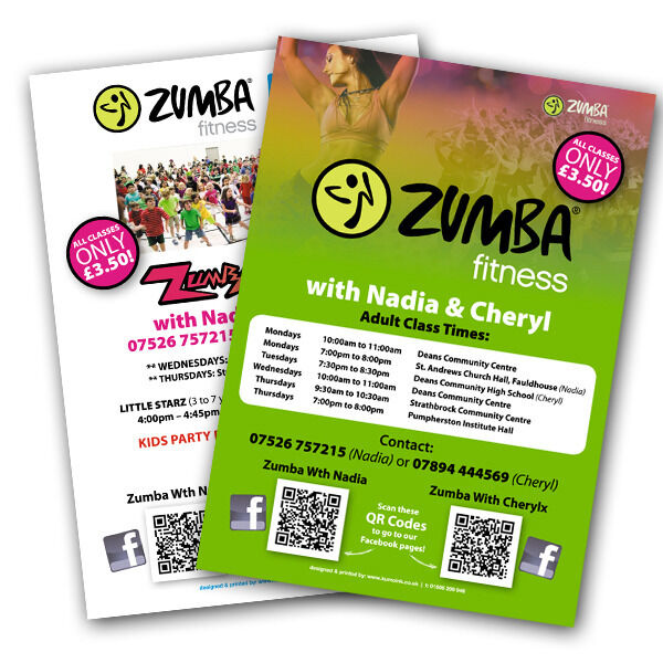 A3  A4  A5  amp  A6 Flyers  Leaflets  amp  Posters PrintingZumba Flyers