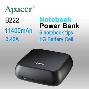 SALE:  APACER mini NOTEBOOK POWER BANK B222 11400mAh with 6 tips Melbourne CBD Melbourne City Preview