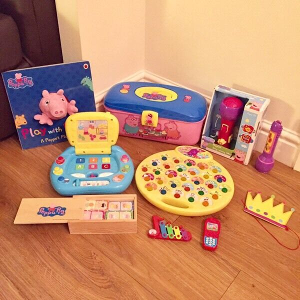 Peppa pig toys laptop book torch xmas birthday