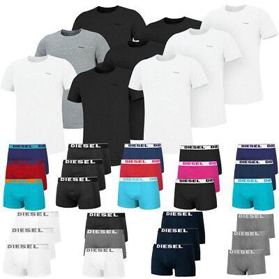 Diesel 3er Pack T-Shirts oder Boxershorts Herren Unterwäsche Baselayer Underwear