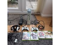 Xbox 360 red ring with 2 wireless controllers