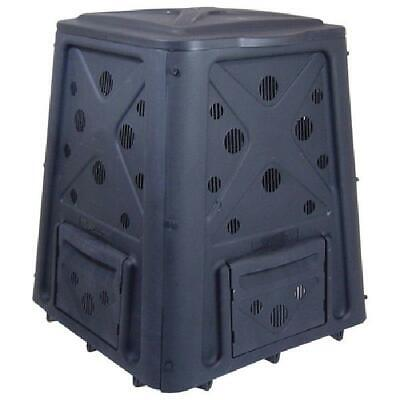 Outdoor Compost Bin 65 Gallon Garden Backyard Kitchen Food Waste Composter Black