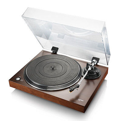 Lenco L-90 Schallplattenspieler Holzgehäuse Walnussfurnier USB