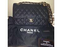 Chanel Cavier classic 25cm bag black gold not Hermes Gucci Prada lv