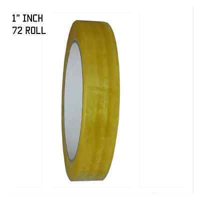 72 Rolls 24mm x 72yd Clear Transparent Tape Sealing Packing Stationery 3