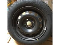 New tyre with free steel wheel 175 65 14