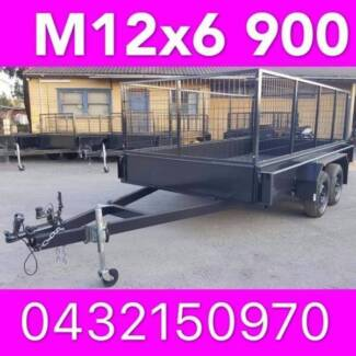 12x6 tandem trailer with cage extra heavy duty 2000kgs local made