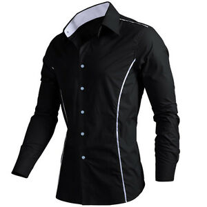 Mens News Collection Luxury Stylish Fine Slim-Fit Formal Casual Shirt UK S-XXL