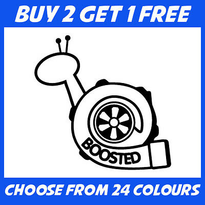 Boosted Snail Turbo ANY COLOUR JDM Drift Car Bumper Sticker Window Vinyl Decal