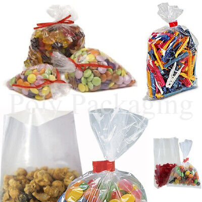 100 x Clear Polythene FOOD BAGS 20x30