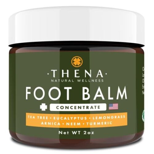 Thena Foot Balm 2 oz Antifungal Cream Tea Tree Oil Eucalyptu