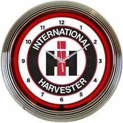 IH international Harvester  Neonetics 15 wall clock 8CASEH NEW MAN CAVE LOOK