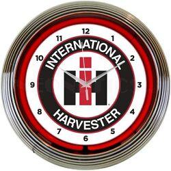 IH international Harvester  Neonetics 15 wall clock 8CASEH NEW MAN CAVE LOOK