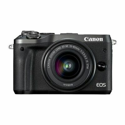Near Mint! Canon EOS M6 15-45mm IS STM Black - 1 year warranty