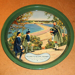 THE ROAD TO THE ISLES CAUSEWAY TIN SERVING TRAY CANADIAN