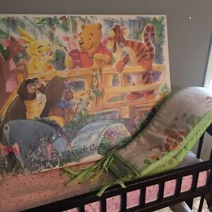 Winnie the Pooh picture and bumper pads