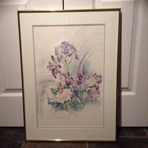 Watercolour painting floral by Beverly Sneath