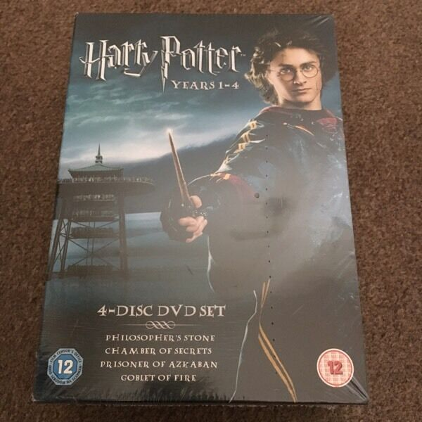 New Harry Potter 4 Disc DVD Set Years 1-4