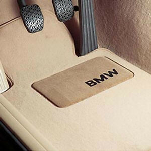 Bmw Beige Carpet Floor Mats Heel Pad E46 3 Series