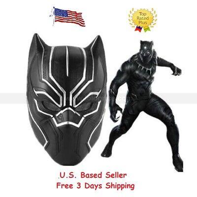 Black Panther Mask Marvel Super Hero Mask Captain America Halloween Cosplay