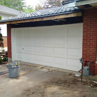 16' wood garage door