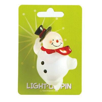 Light Up Pin (Christmas Snowman LED Light Up Holiday Fashion)