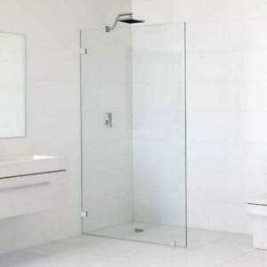 800x2000 Frameless Shower Screen Fixed Panel 10mm Thick Glass Wal