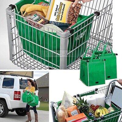 2x Wiederverwendbare Einkaufswagentasche Einkaufstasche Supermarkt Easy Shopper