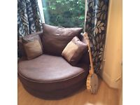 Extremely comfy two seater rotating chair