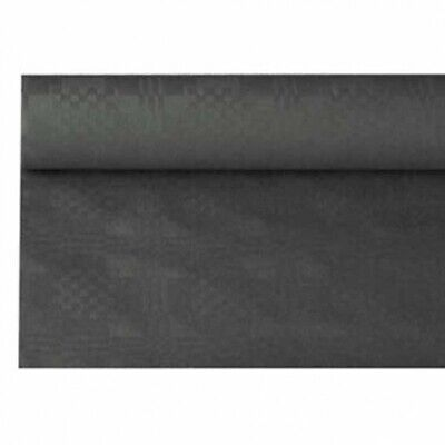 Papiertischdecke schwarz, mit Damastprägung, 8 Meter