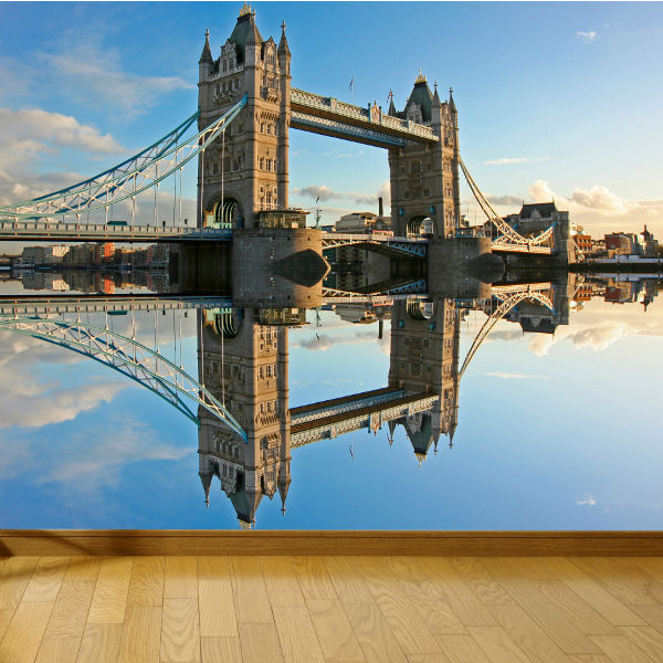 WALLPAPER TOWER BRIDGE LONDON THAMES UK WALL PAPER 300cm wide 240cm tall WMO035