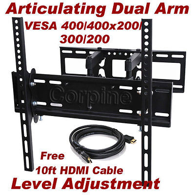 Full Motion Plasma LCD LED TV Tilt Wall Mount 26 32 37 40 42 46 47 50 52 55 m4z on Rummage