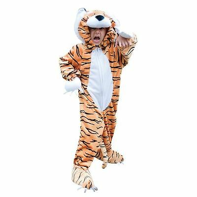 Toddler Girl Tiger Costume (Travis Toddlers Childs Tiger Costume Cat Plush Fancy Dress Animal Party)