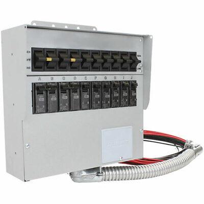 Reliance Controls Protran 2 - 30-amp 120240v 10-circuit Indoor Transfer S...