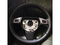 Vauxhall Opel Vectra Leather Steering Wheel 13143136