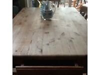 Shabby Chic Old Pine Table & Chairs
