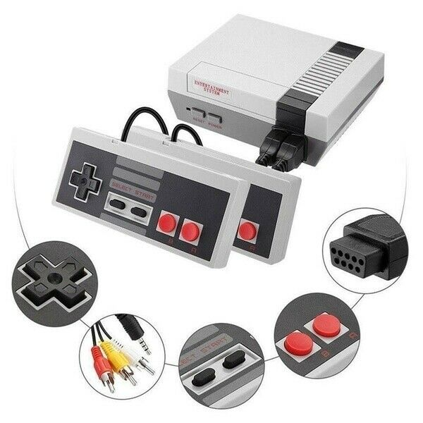 NES Mini 620 Games Classic Plug & Play 2 Controllers Retro Style Console