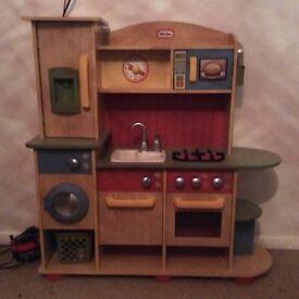 Little tykes wooden play kitchen