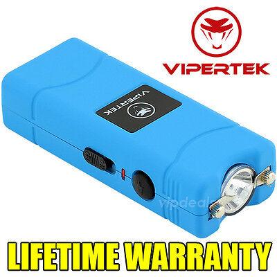 VIPERTEK BLUE VTS-881 110 MV Mini Rechargeable LED Police Stun Gun + Taser Case