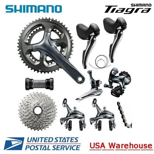 Shimano Tiagra 4700 2x10 Speed Groupset 170mm 8pcs Road Bike