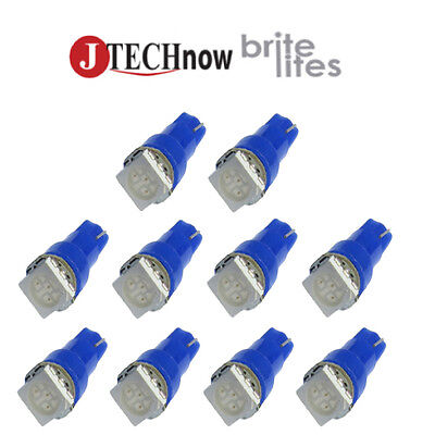Led - 10 x T5, 5050 SMD LED Blue Instrument Panel Dash Light Bulb 74 17 18 37 70 2721