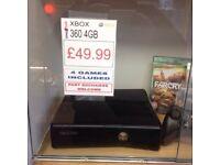 Xbox 360 4gb x4 games with warranty