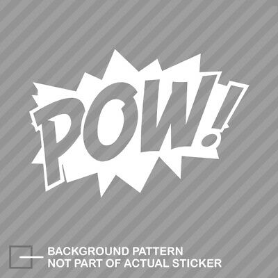 POW! Superhero Sticker Die Cut Decal comic style - Superhero Pow