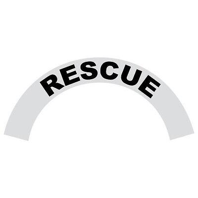 Rescue Black Helmet Crescent Reflective Decal Sticker