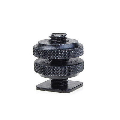 "New 1/4"" Mount Adapter for Tripod Screw To Flash Hot Shoe Black"