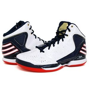 Adidas-Derrick-Rose-773-Men-US-13-Olympic-White-Gold-Blue-Sneaker-Shoe-G56267