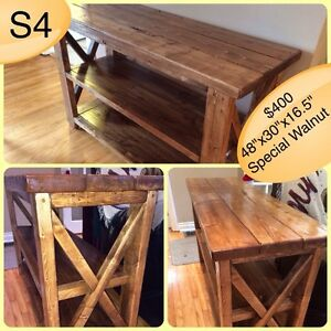 HANDMADE CUSTOM SOLID WOOD TV STAND/CONSOLE/SOFA/BOOKSHELF TABLE