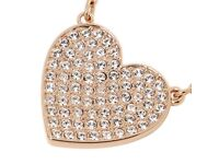 Swarovski Cupid White Crystal Rose Gold Plated Heart Necklace