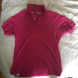 Pink Lacoste Polo Size 2 in great condition